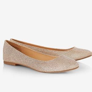 Express!! flats gorgeous rose gold glitter